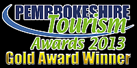 Gold Award Pembrokeshire Tourism